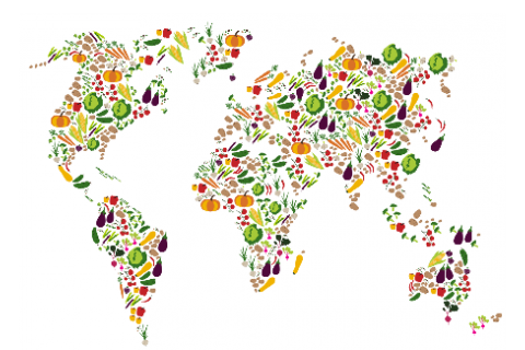 world map of foods